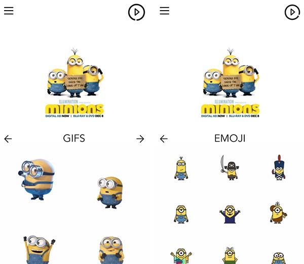 Stickers Minions