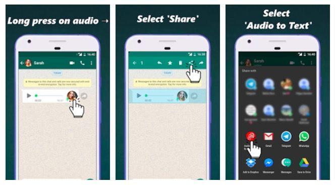 2 aplicaciones para convertir audios de WhatsApp a texto en Android