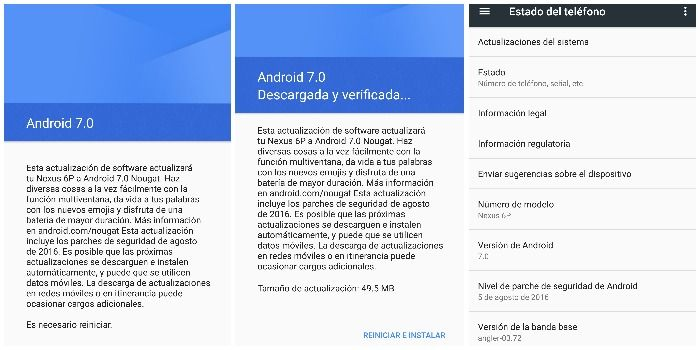 android nougat nexus 6p