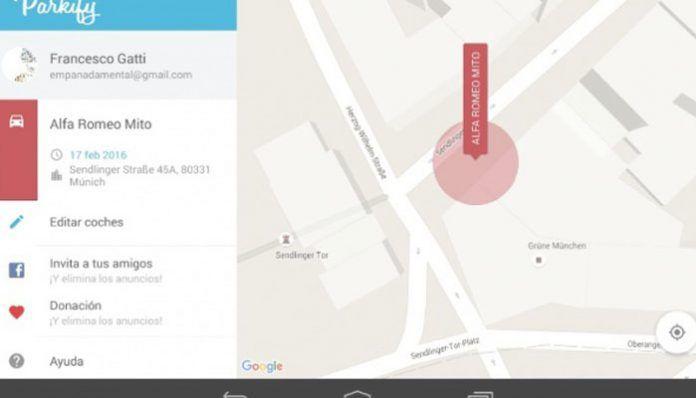 Aplicación para saber dónde aparcas el coche