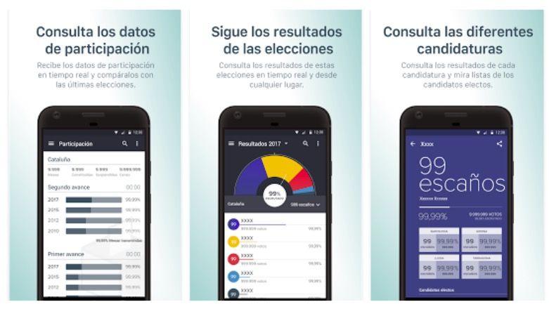 Aplicación para seguir las elecciones catalanas 2017 del 21D en Android