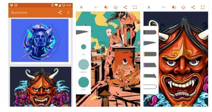 Aplicaciones de diseño gráfico para móvil o tablet Android