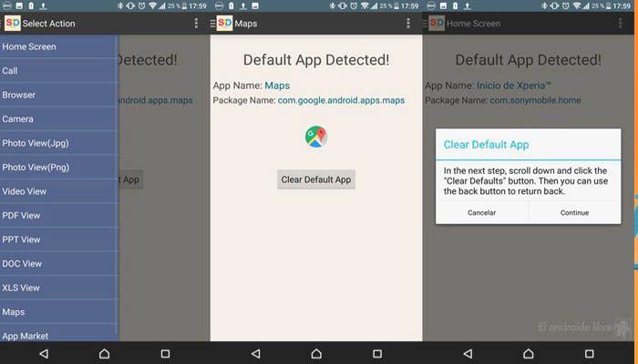 Cambiar aplicaciones por defecto en Android