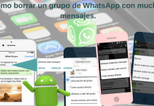 Cómo borrar un grupo de WhatsApp con muchos mensajes