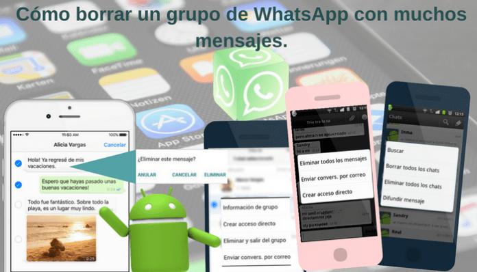 Cómo borrar un grupo de WhatsApp con muchos mensajes