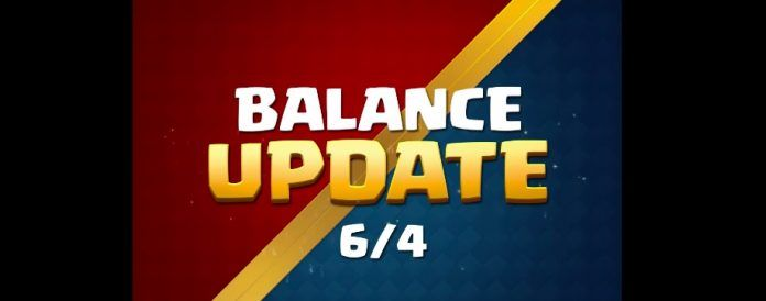 Cambios de balance Clash Royale 4 junio 2018
