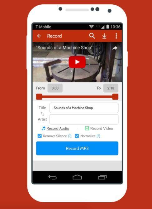 Convertir vídeos de YouTube a MP3 desde Android