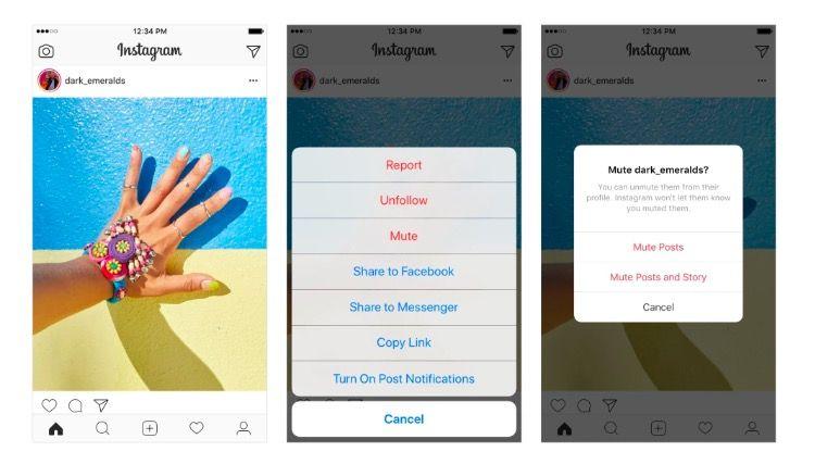 Cómo silenciar cuentas en Instagram