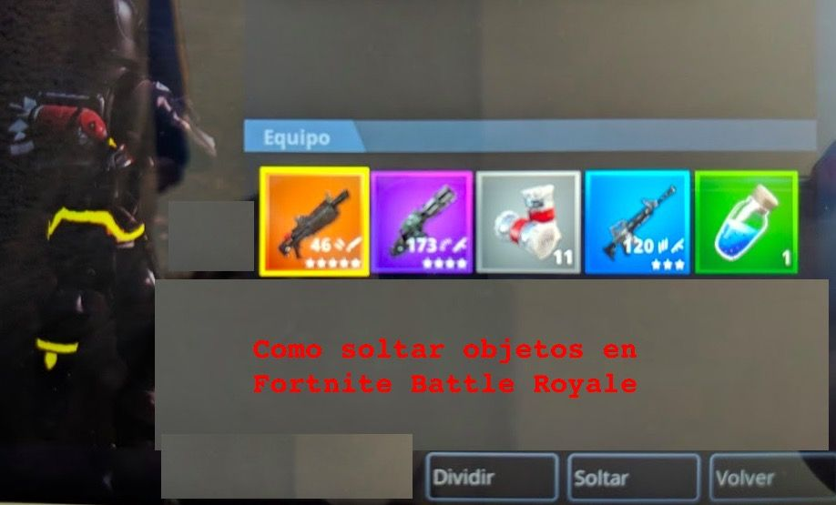 Como soltar objetos en Fortnite Battle Royale