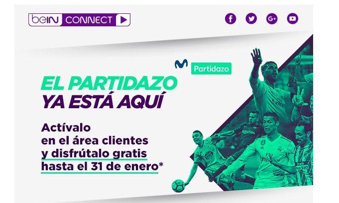 Cómo ver Movistar Partidazo gratis con beIN CONNECT