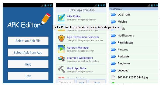 Descargar APK Editor Pro gratis para Android