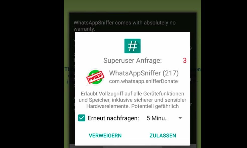 Descargar WhatsApp Sniffer 2017 APK Android gratis