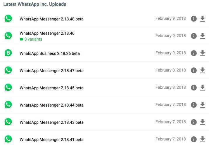 Descargar versión antigua de WhatsApp para Android