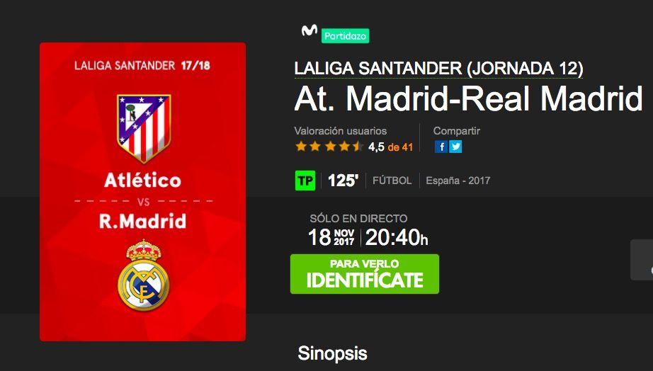 Dónde ver el Atlético de Madrid vs Real Madrid de hoy