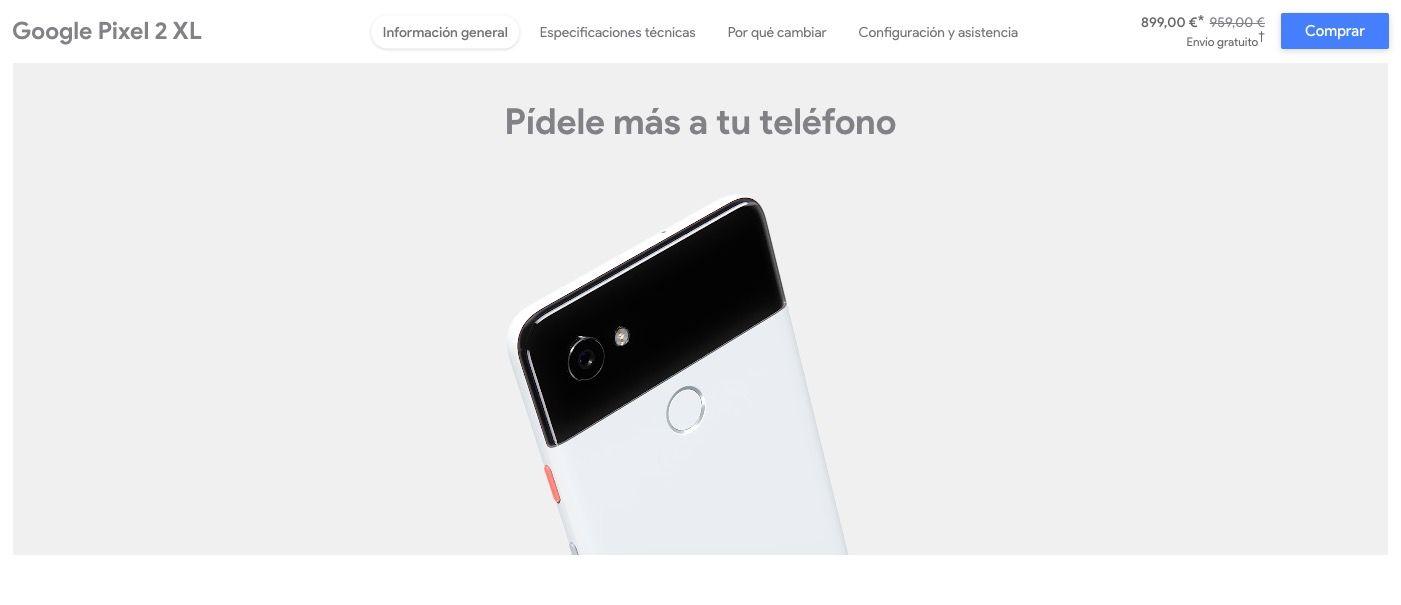 El Pixel 2 XL baja de precio en la Google Store