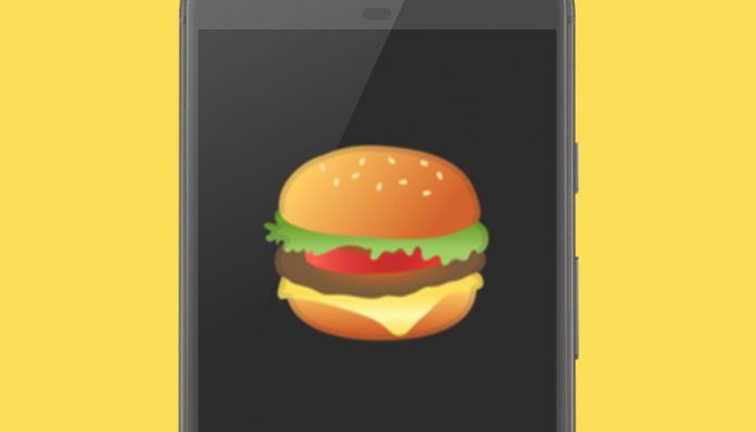 Emoji de la hamburguesa
