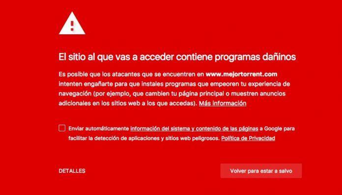 MejorTorrent es bloqueada
