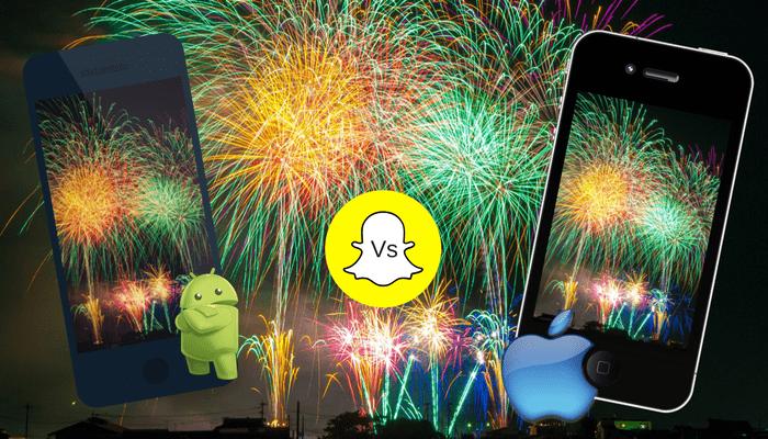 Snapchat debe mejorar la calidad de las fotos en Android.