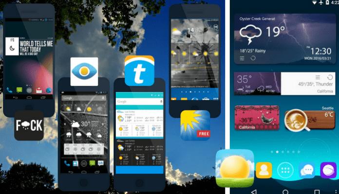 Mejores widgets del tiempo para Android gratis