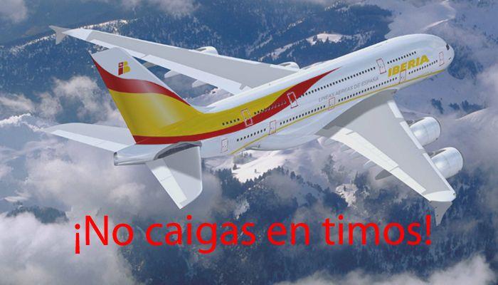 Cuidado, Iberia no regala vuelos gratis en Facebook