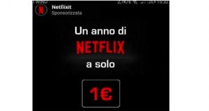 Netflix 1 euro 1 año
