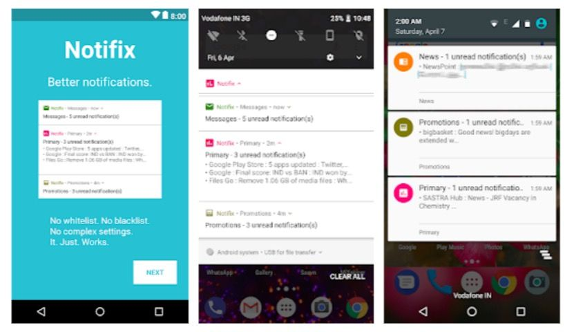 Notifix: app para gestionar las notificaciones en Android