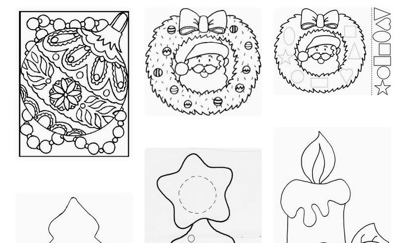 Páginas con imágenes de Navidad 2017 para colorear e imprimir