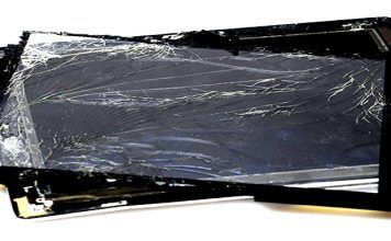 reparar la pantalla rota de una tablet