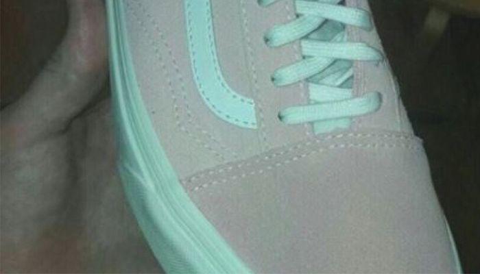 ¿De qué color es la zapatilla? Nuevo viral