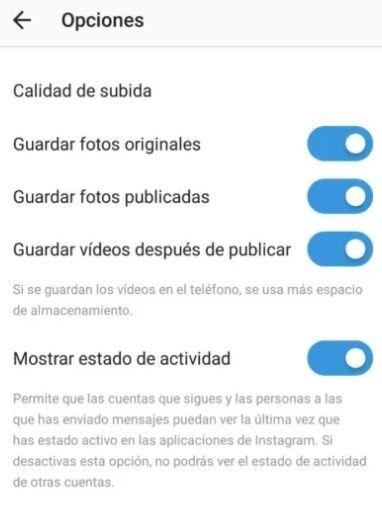 Quitar la última conexión de Instagram en Android