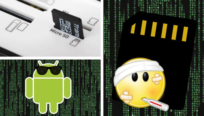Recuperar archivos de una tarjeta SD dañada