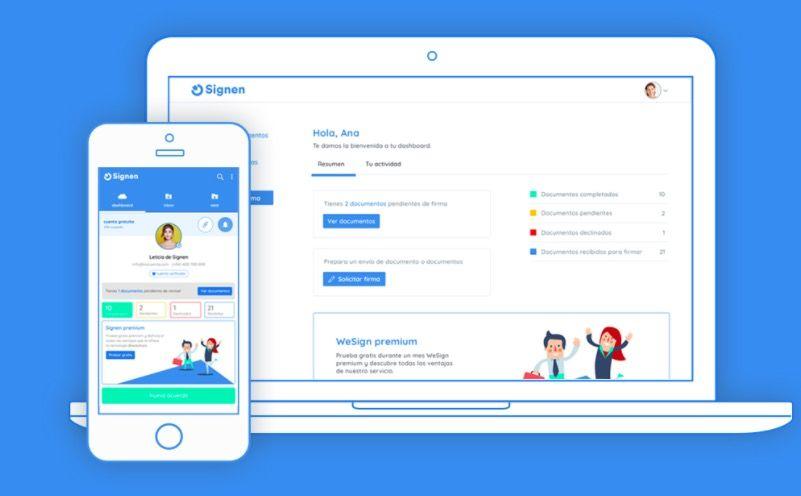 Signen app para firmar documentos