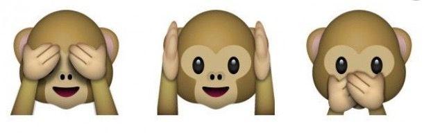 Significado de los tres monos del WhatsApp