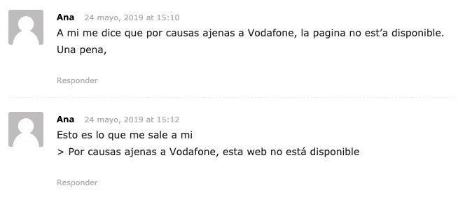 Solución: por causas ajenas a Vodafone esta web no está disponible (2019)
