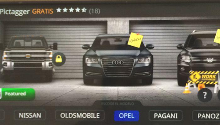 Aplicación para tunear autos Android