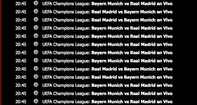 Ver Bayern vs Real Madrid online gratis en vivo y en directo