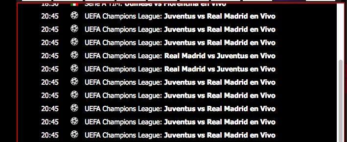 Ver Juventus Real Madrid online gratis