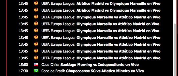 Ver Marsella vs Atlético de Madrid online