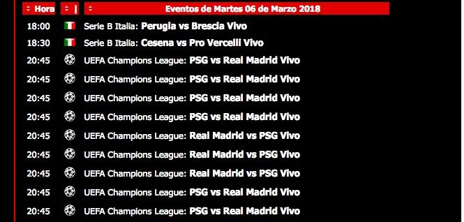 Ver PSG Real Madrid online y en vivo