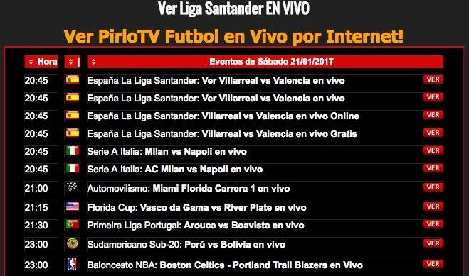 Pirlo TV Rojadirecta - Tarjeta Roja TV - Ftbol En Vivo