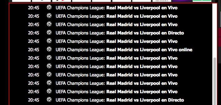 Ver Real Madrid Liverpool online y gratis