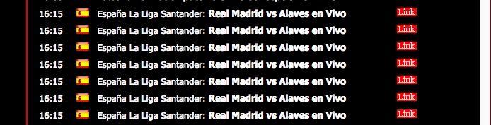 Ver Real Madrid vs Alavés online y gratis