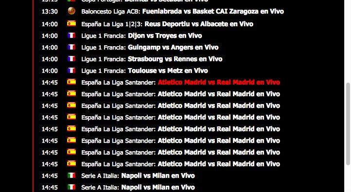 Ver el Atlético de Madrid vs Real Madrid online gratis por Internet