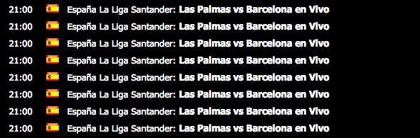 Ver las Palmas Barcelona online, gratis y en vivo
