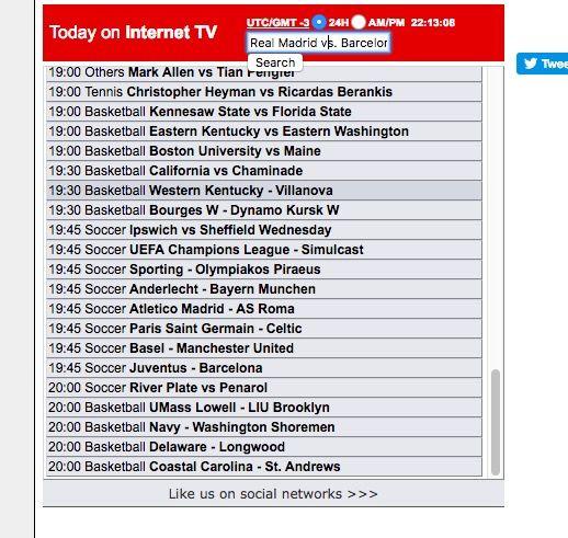 Ver partidos de Champions online, gratis y en directo
