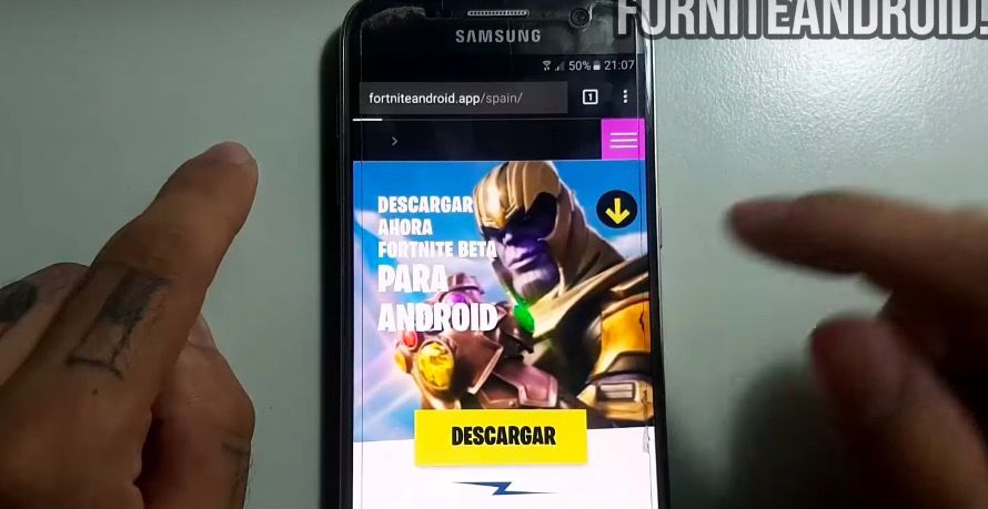 Video de YouTube con APK falso de Fortnite 36 euros