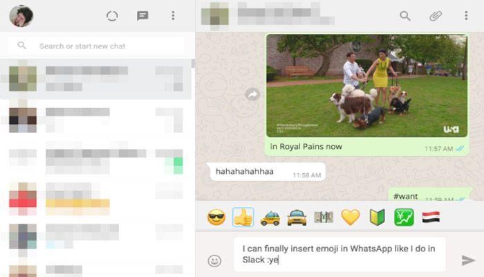 Atajos de emojis en WhatsApp Web