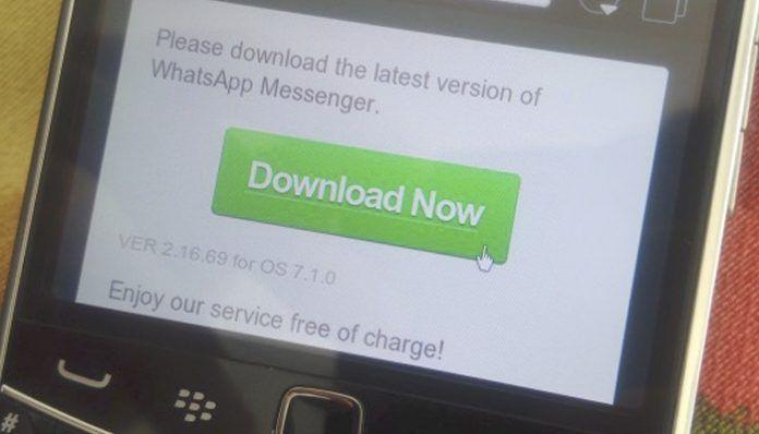 Descargar versión anterior de WhatsApp para BlackBerry