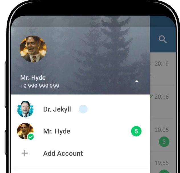 anadir cuentas telegram