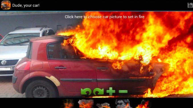aplicacion-bromas-android-coche-ardiendo